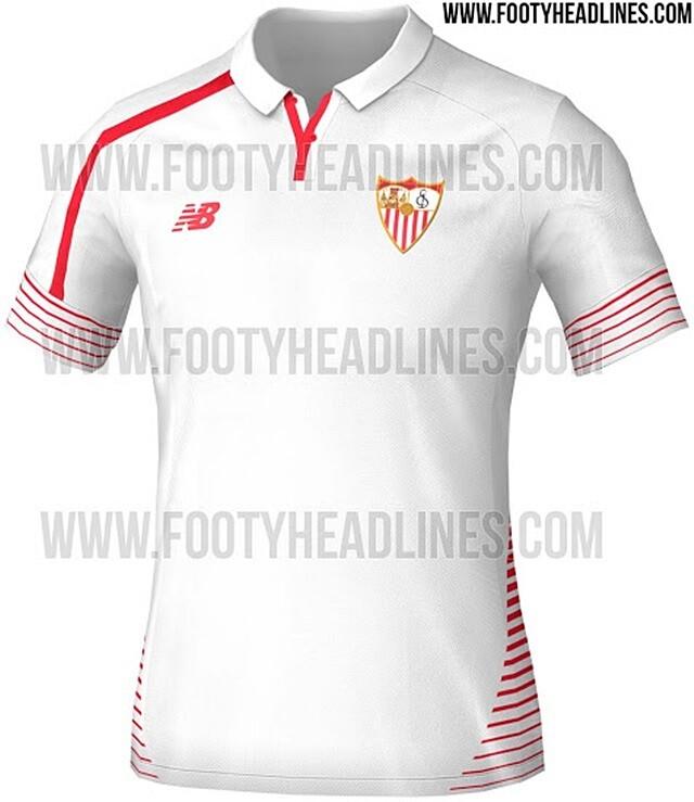 El portal especializado Footyheadlines ha desvelado cómo serán las  equipaciones del Sevilla para la temporada 2015 16. 5a165b82869