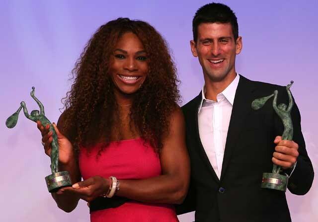 Serena Williams y Novak Djokovic