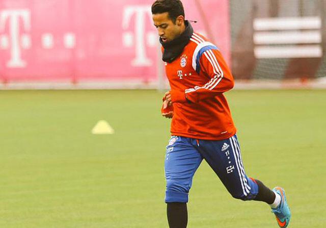 Thiago ya toca el balón en el Bayern