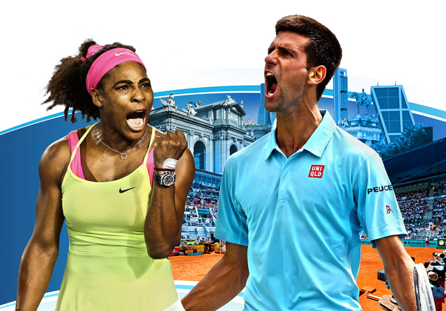 Djokovic y Serena, protagonistas solidarios del Mutua Madrid Open