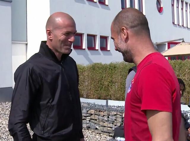Zidane recibe clases de Guardiola