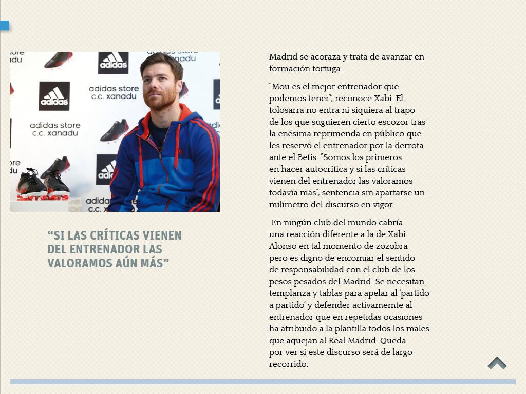 Xabi Alonso y el Real Madrid cierran filas en torno a Mou