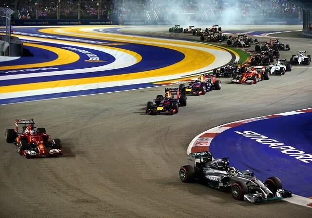 Salida del GP de Singapur de 2014