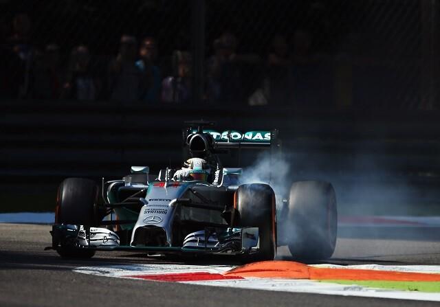 Lewis Hamilton en el GP de Italia de 2014