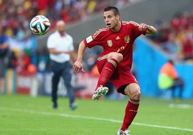 César Azpilicueta con la selección española
