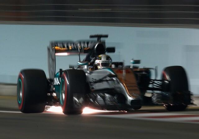 Lewis Hamilton en el GP de Singapur