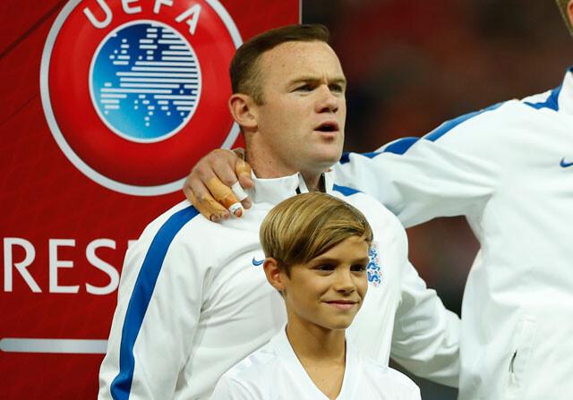 Wayne Rooney y Romeo Bekcham