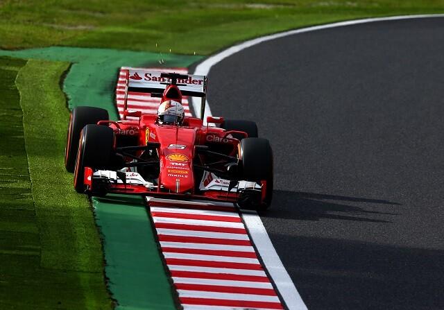 Sebastian Vettel durante el GP de Japón
