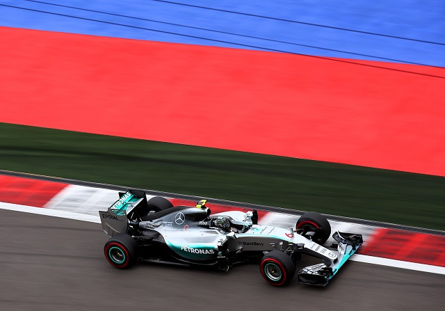 Nico Rosberg en el Circuito de Suchi durante el GP de Rusia