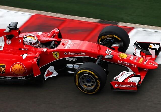 Sebastian Vettel en el circuito de Sochi durante el GP de Rusia