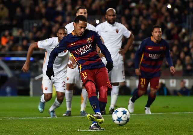 Neymar fallando un penalti