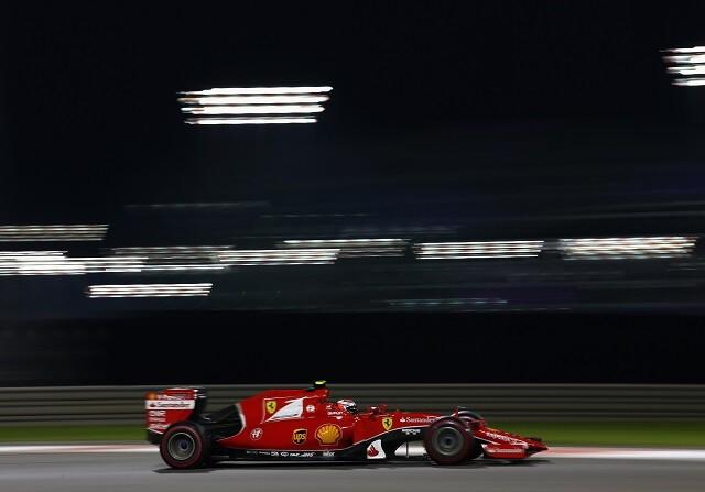 Kimi Räikkönen en el circuito de Yas Marina
