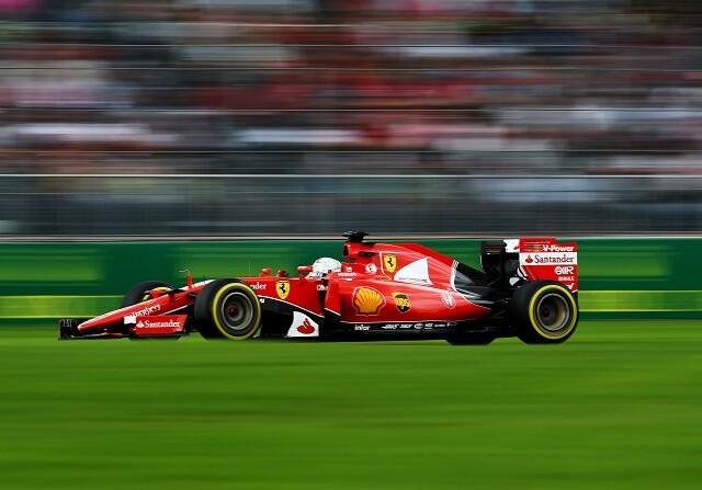Sebastian Vettel durante el GP de México