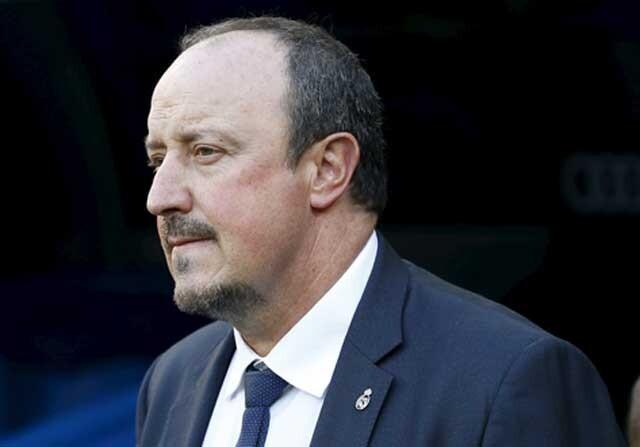 Benitez durante un partido del Real Madrid