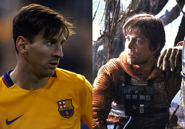 Parecido entre Messi y Luke Skywalker