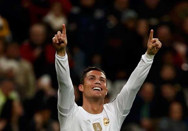 Cristiano ROnaldo celebrando un gol con el Real Madrid