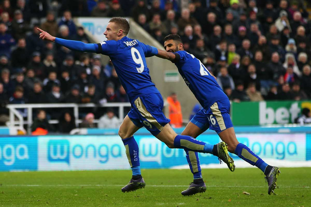 Jamie Vardy y Riyad Mahrez están haciendo una gran temporada con el Leicester City
