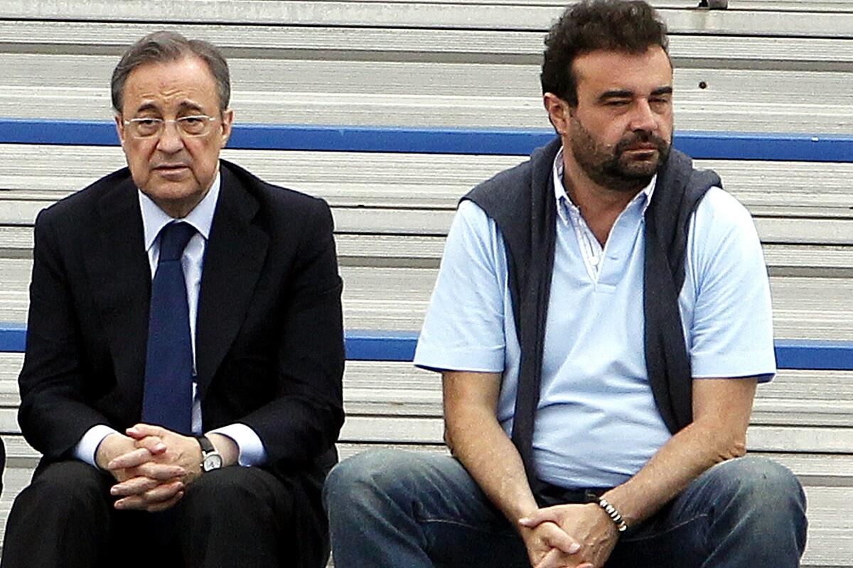 Florentino Pérez y José Ángel Sánchez, topos del Real Madrid según el autor