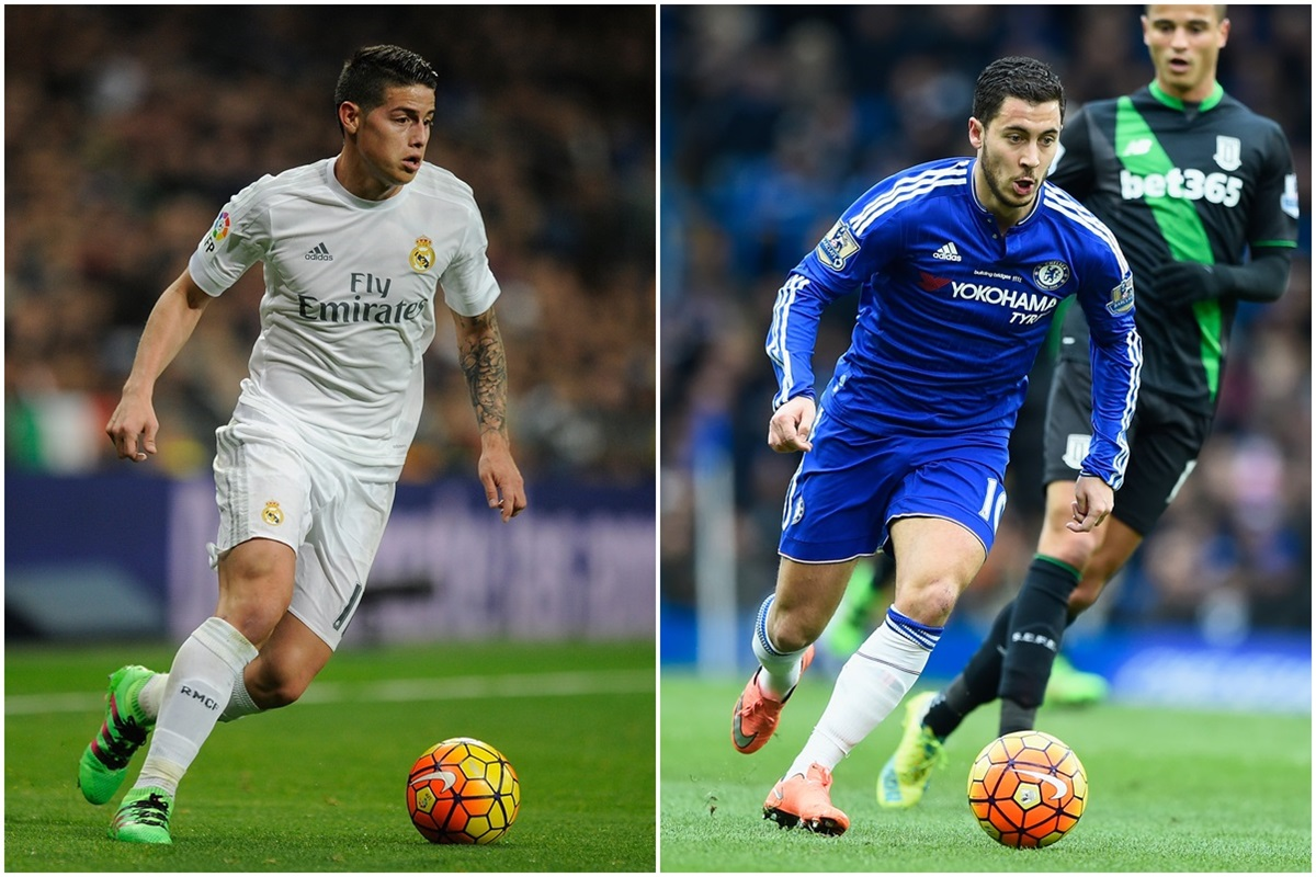 El Real Madrid propone un intercambio entre Hazard y James Rodriguez