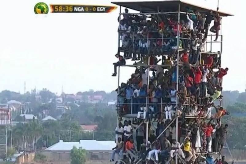 Público en el Nigeria Egipto