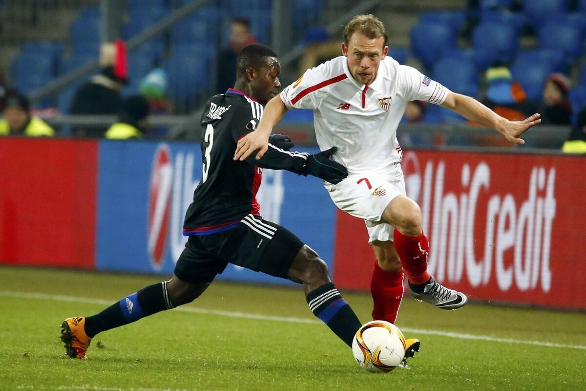 Sevilla y Basilea empatan 0-0 en la ida de 1/16 de la Europa League