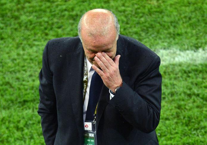 Del Bosque, en un partido de la Eurocopa