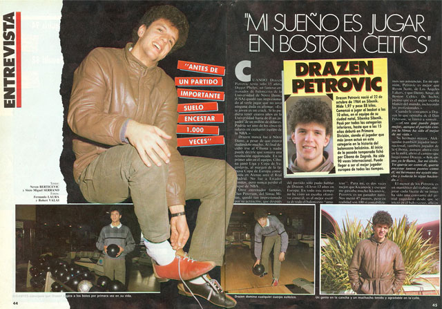 Drazen Petrovic en Gigantes del basket