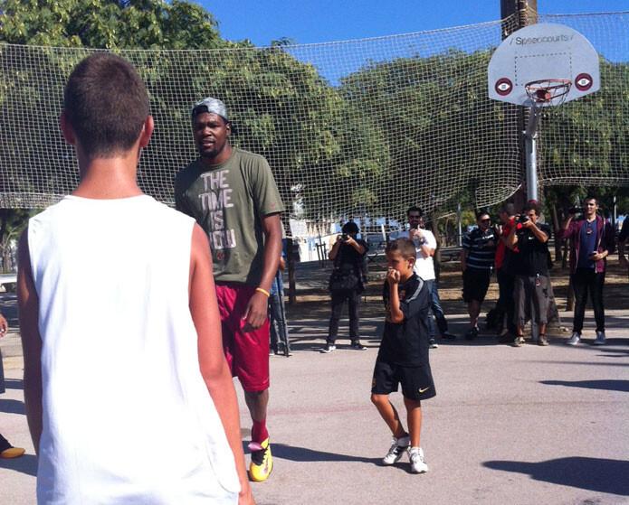 Kevin Durant en Barcelona