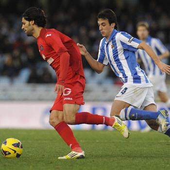 Lafita y Rubén Pardo, jugadores de Getafe y Real Sociedad