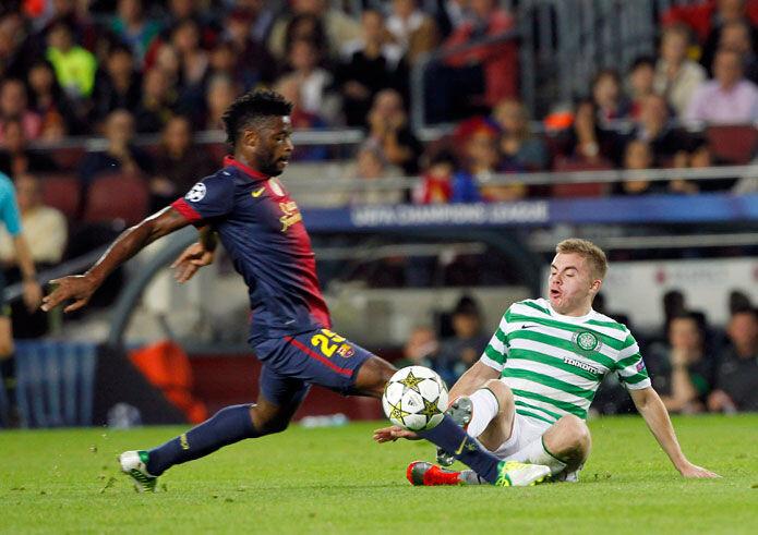 Alex Song, durante el Barcelona-Celtic